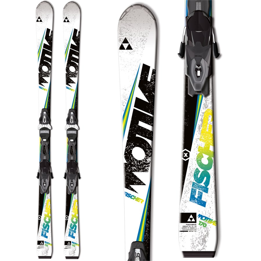 fischer motive x skis rs10 powerrail bindings 2015 evo. Black Bedroom Furniture Sets. Home Design Ideas