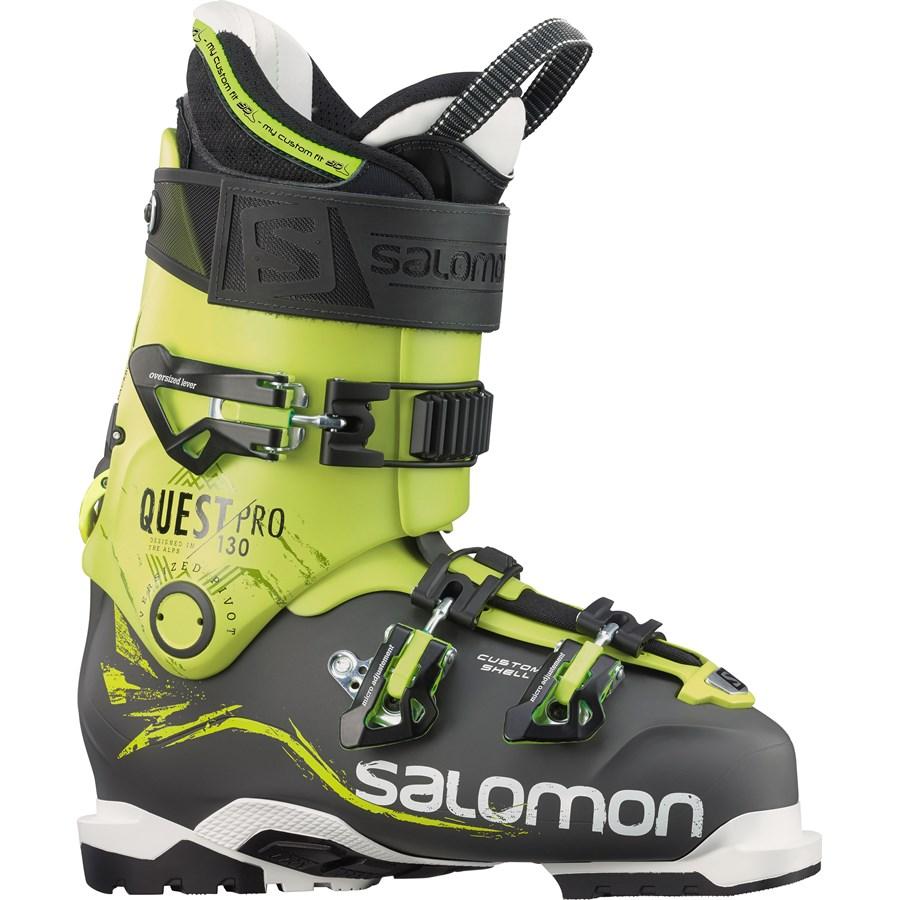 salomon quest pro 130 ski boots 2016 evo outlet. Black Bedroom Furniture Sets. Home Design Ideas