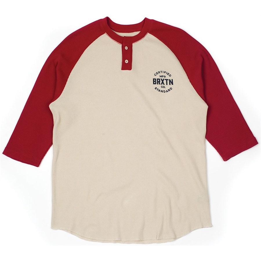 Brixton cane 3 4 sleeve henley shirt evo for 3 4 henley shirt