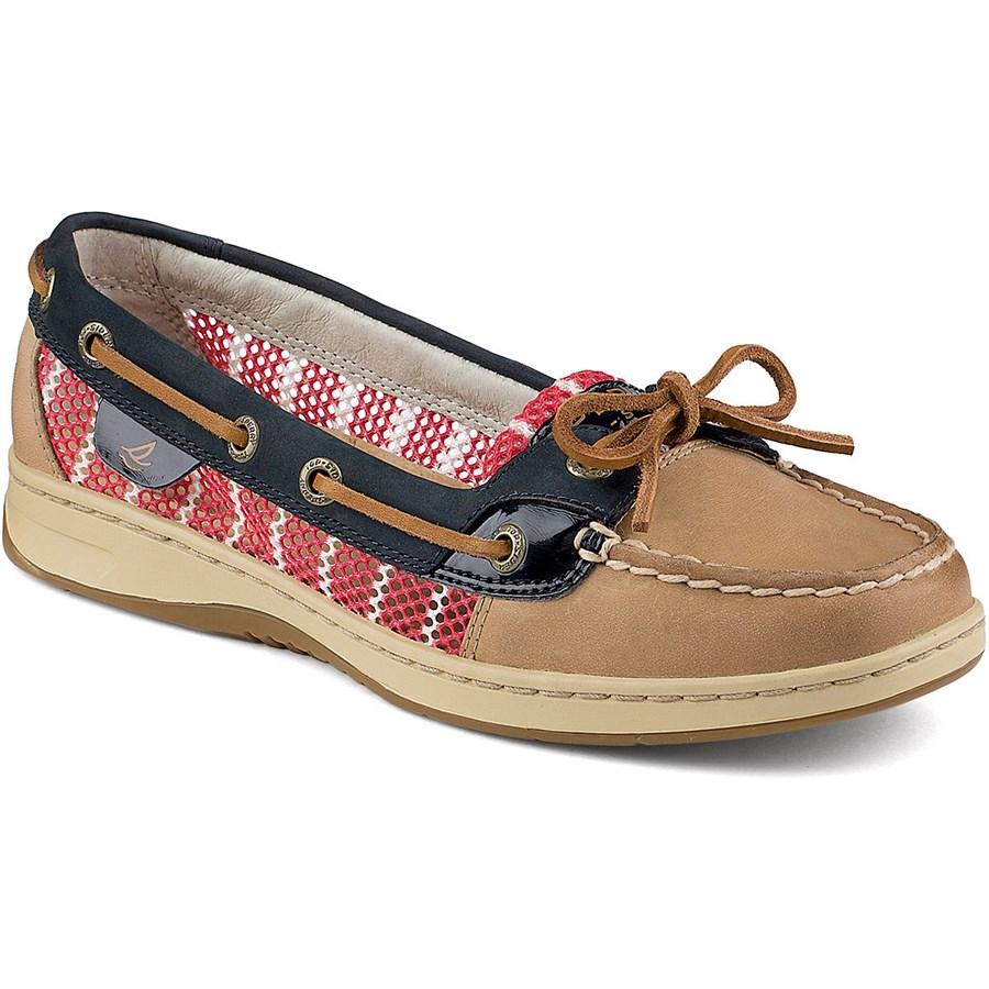 sperry top sider angelfish 2 eye breton stripe mesh shoes