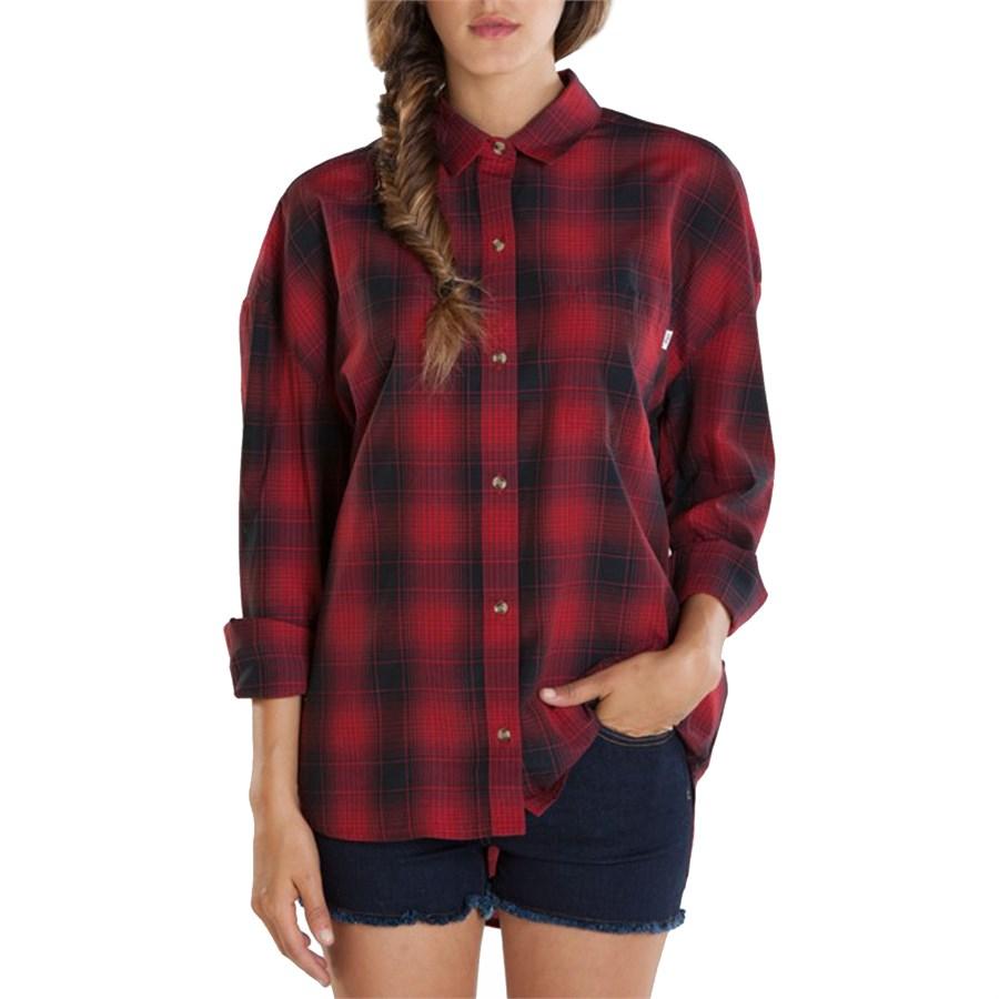 Obey Clothing Jordan Long Sleeve Button Down Shirt Women