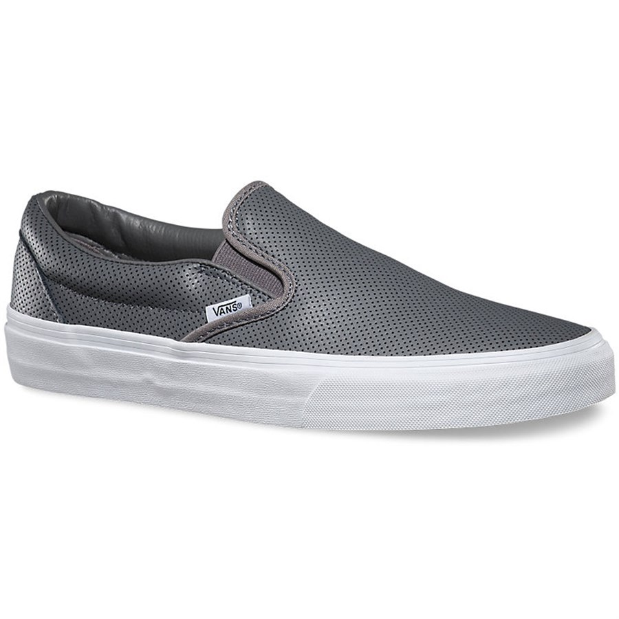 vans classic slip on leather shoes women s perf leather smoke pearl. Black Bedroom Furniture Sets. Home Design Ideas