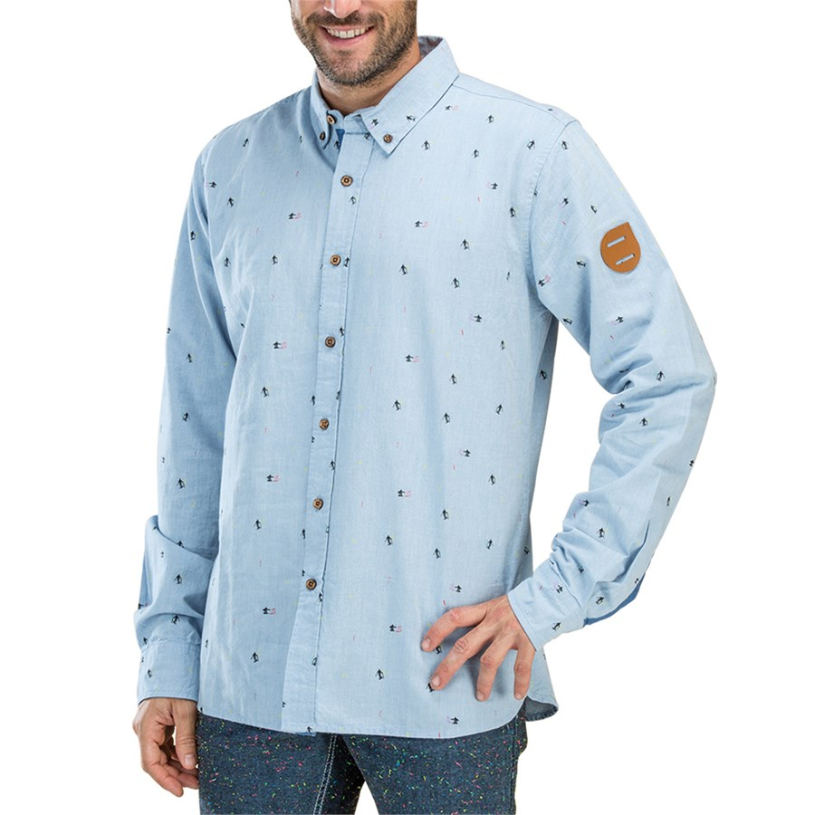 Picture organic ski club long sleeve button down shirt for Organic cotton button down shirts