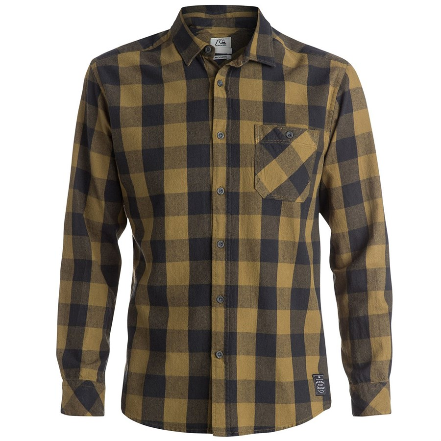 Quiksilver motherfly long sleeve button down flannel shirt for Best flannel shirt brands