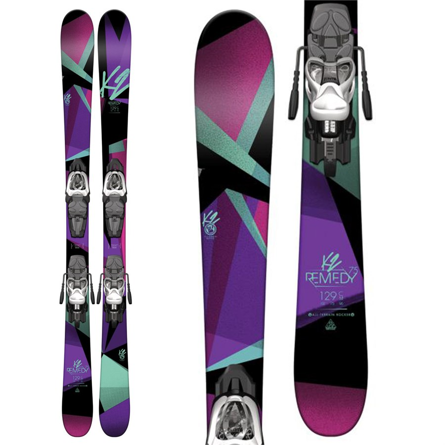 K2 Remedy 75 Jr Skis + Fastrak2 7 Bindings - Girls' 2017