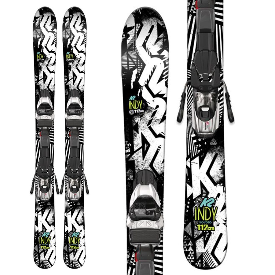 K2 Indy Skis + Fastrak2 4.5 Bindings - Boys' 2017