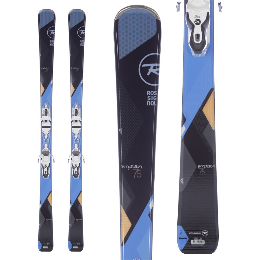 Rossignol Temptation 75 Skis + Saphir 100 Bindings