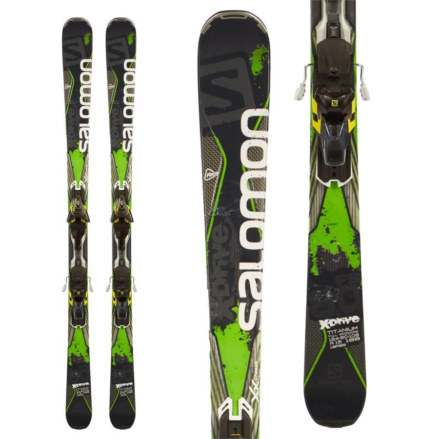 Salomon X-Drive 8.0 FS Skis + MXT12 Bindings 2015
