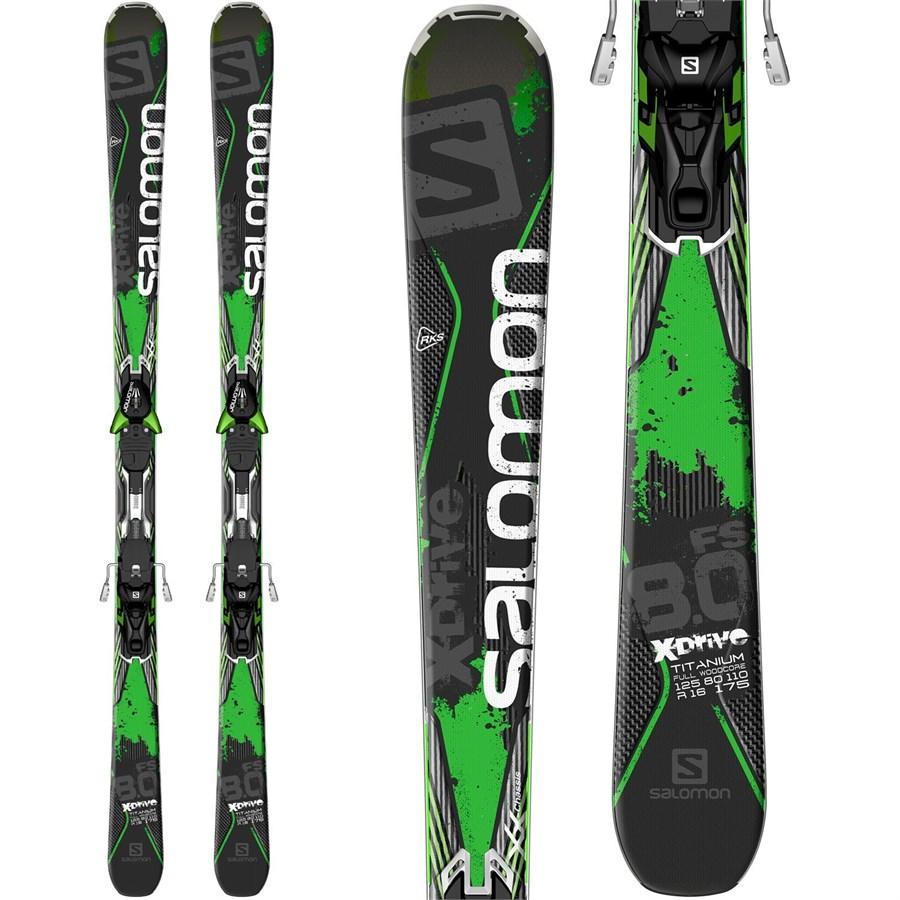 Salomon Q Max Jr Small Skis + EZY 5 Binding 2016 Gear West