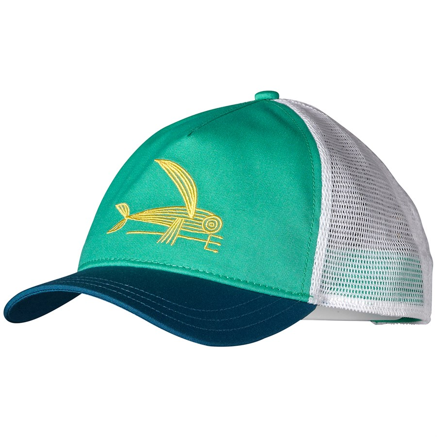 patagonia deconstructed flying fish layback trucker hat