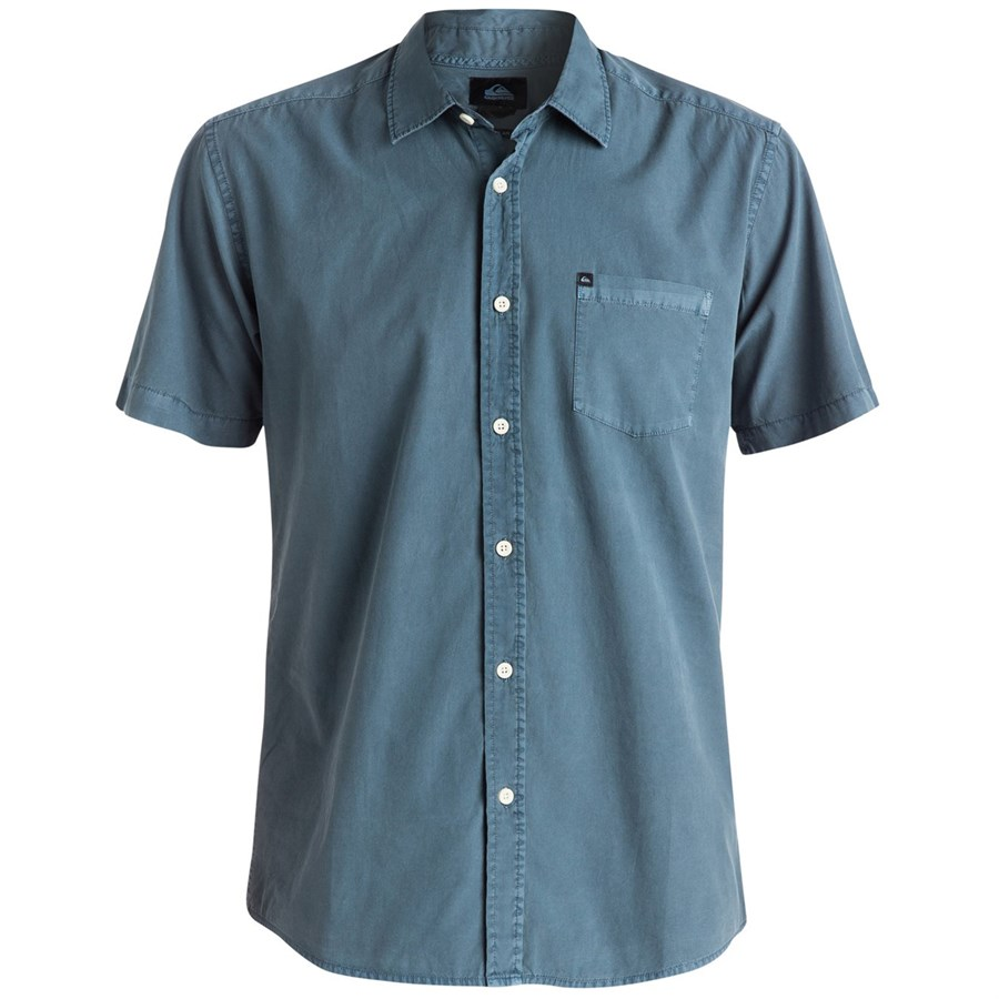 Quiksilver Everyday Solid Short Sleeve Button Down Shirt