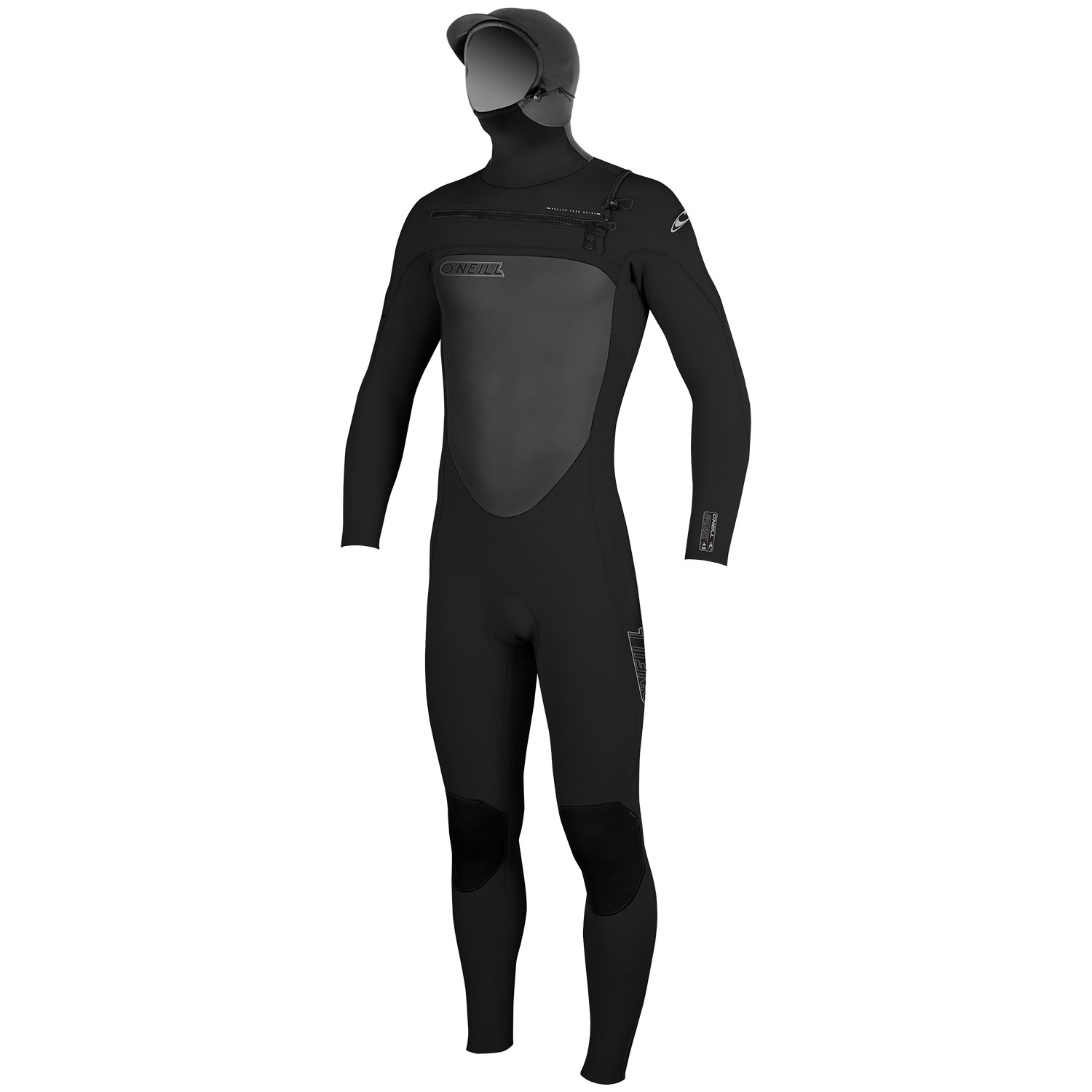 o neill superfreak 5 4 chest zip hooded wetsuit black black black front o'neill wetsuit size chart,Oneill Womens Clothing Size Chart