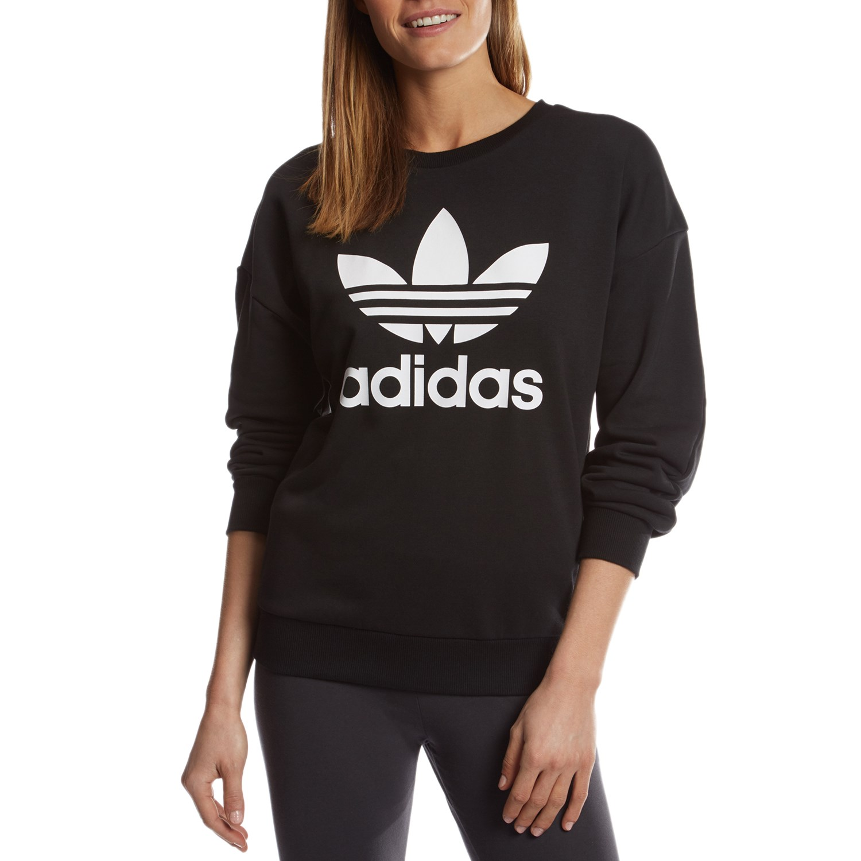 58a5a708 Adidas Originals Womens Trefoil Crewneck Sweatshirt - raveitsafe