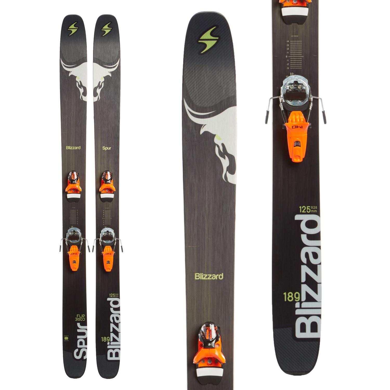 24d3d2519 Blizzard Spur Skis + Rossignol FKS 140 Dual WTR Bindings 2016 - Used   evo
