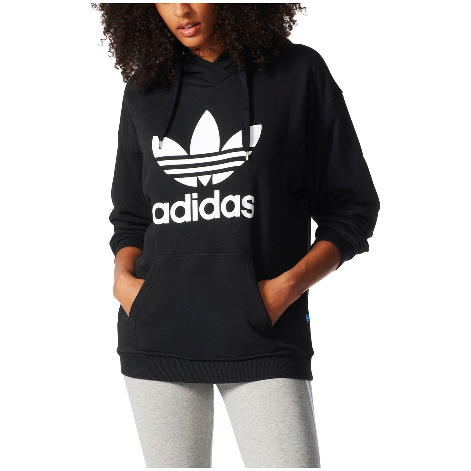 adidas Originals Womens Trefoil Sweatshirt Black