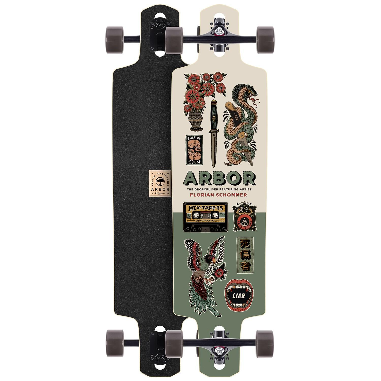 Arbor Drop Cruiser Artist Collection Longboardplete