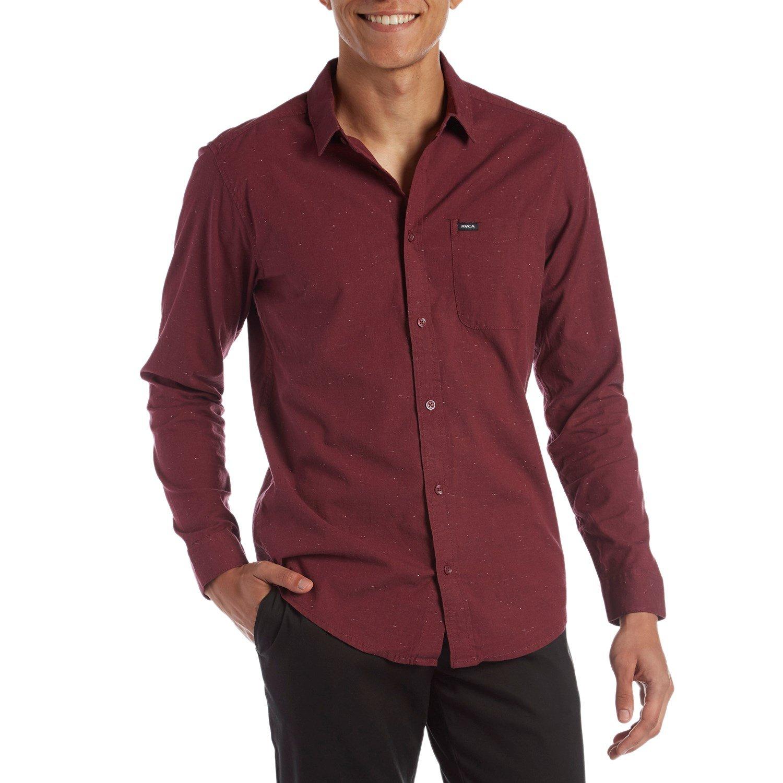 Details about  /RVCA Men/'s Casey Long Sleeve Slim Fit Button Down Shirt