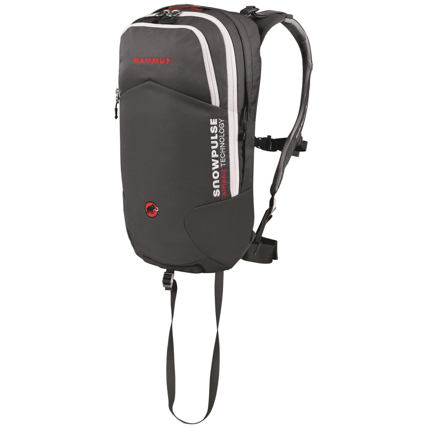 mammut rocker removable airbag backpack set with airbag smoke white front