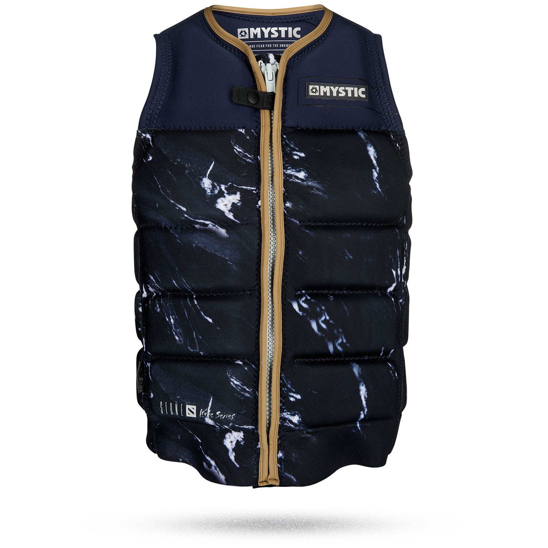 Black Mystic 2020 Stone Wake Boarding Front-Zip Impact Vest