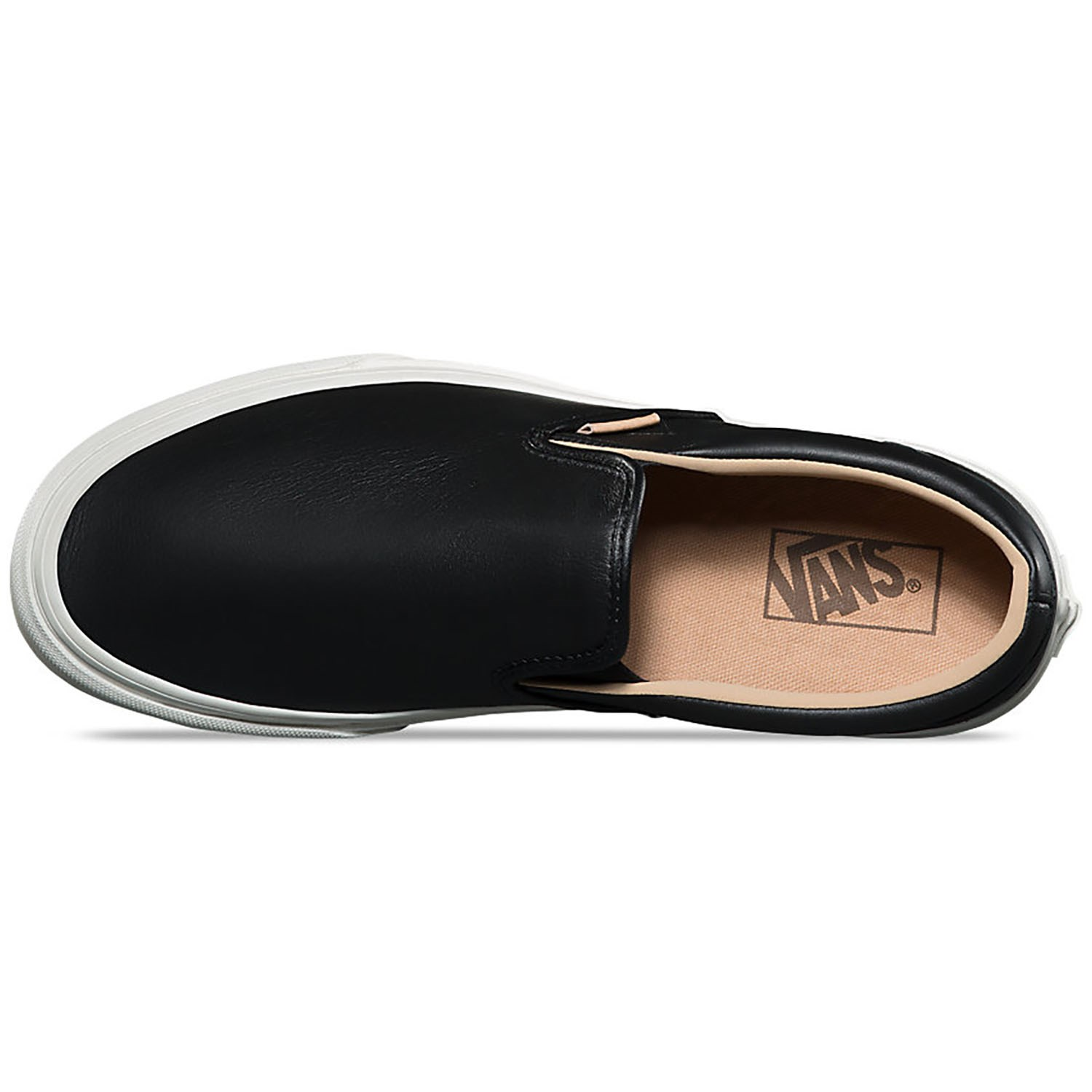 2f1fc038d5e7 Vans Lux Leather Classic Slip-On Shoes