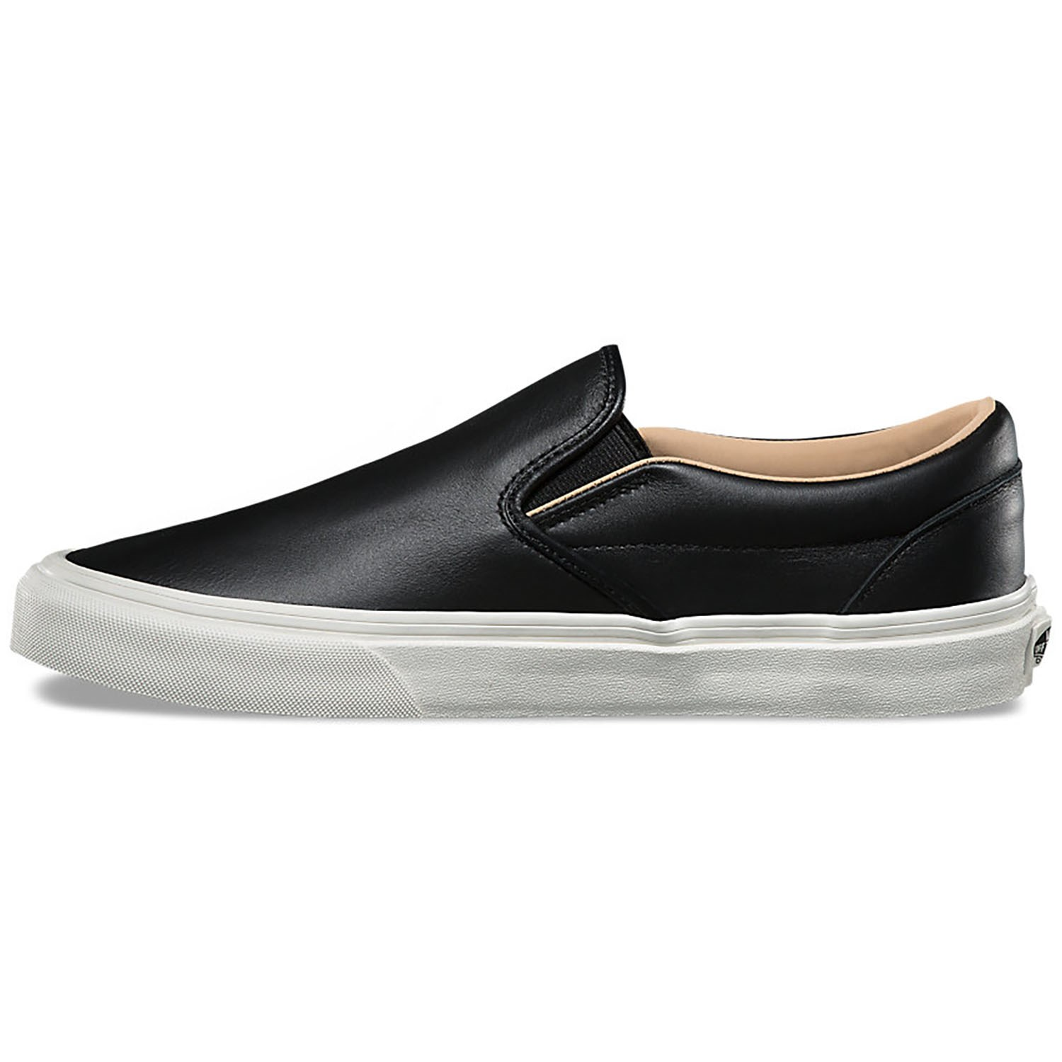 53a2638845 Vans Lux Leather Classic Slip-On Shoes