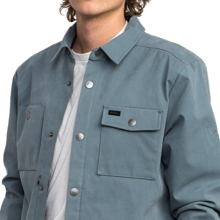 RVCA Mens Utility Shirt Jacket M708QRUS
