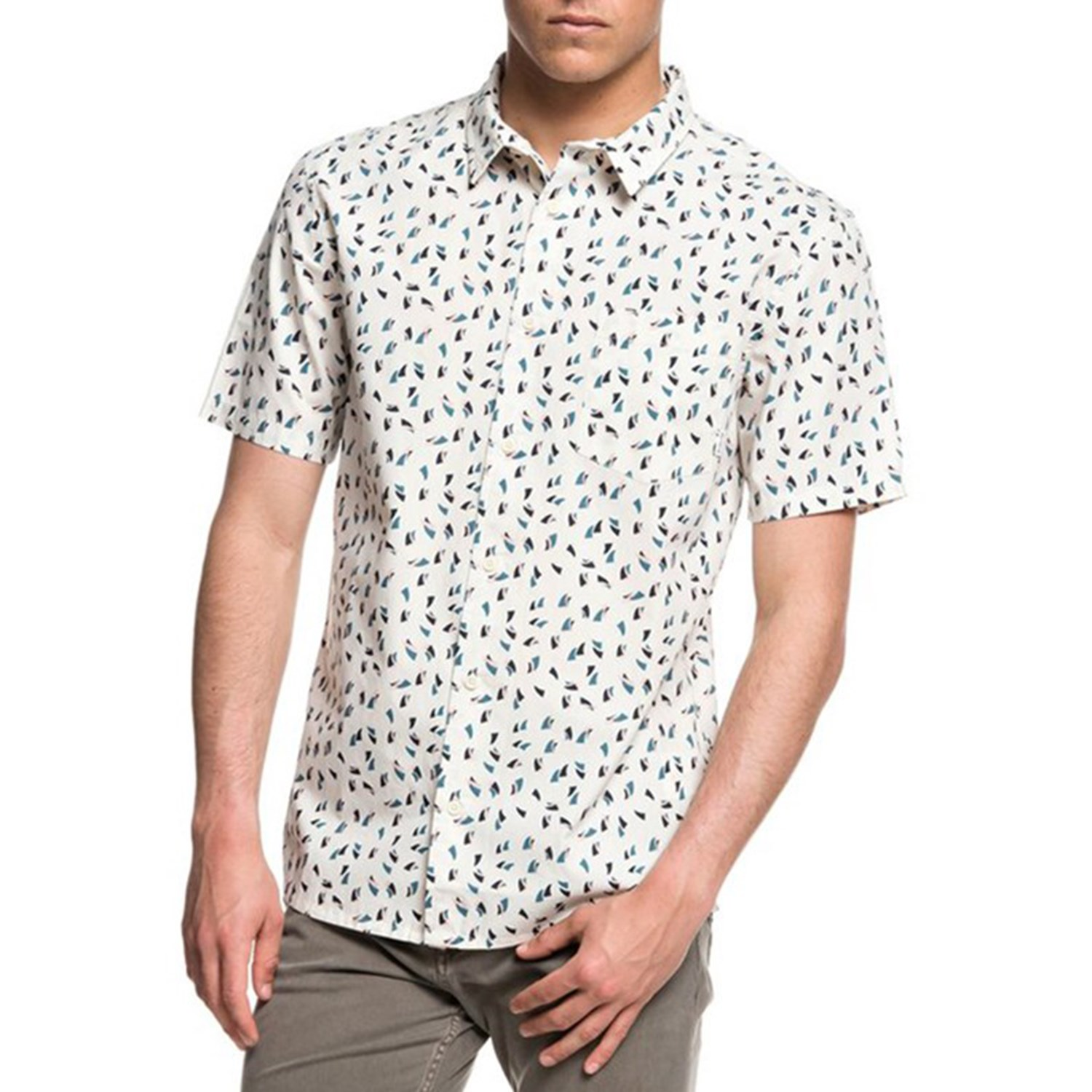 QUIKSILVER Mens Akan Waters Button Down Shirt