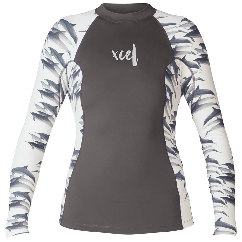 "Women/'s /"" Ocean Ramsey /"" Key Pocket Xcel Long Sleeve Rashguard Top"