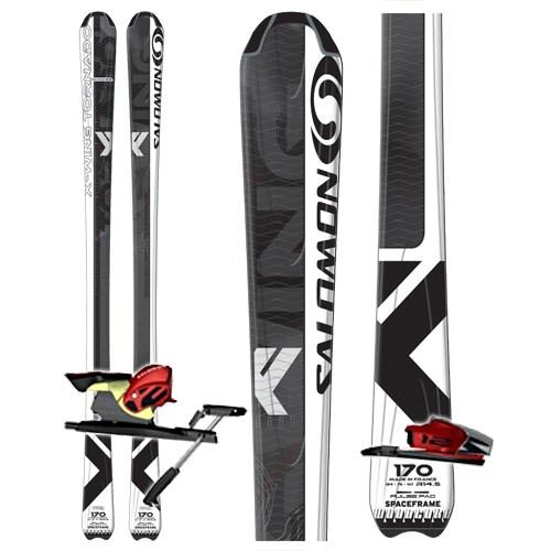 Salomon X Wing Tornado Skis + Bindings Used 2007 Used