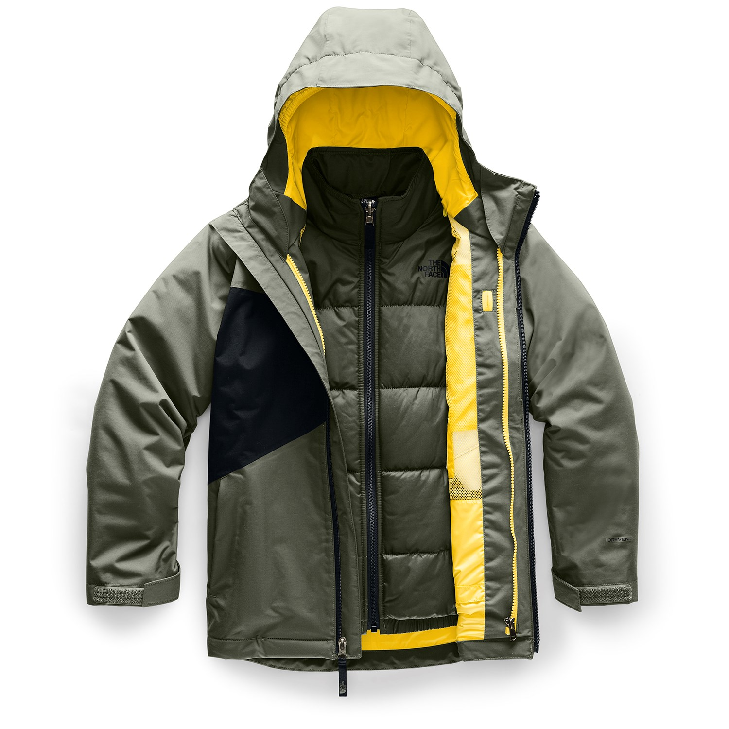 Black The NORTH FACE boys Insulated Mountain Guide Jacket Small 8