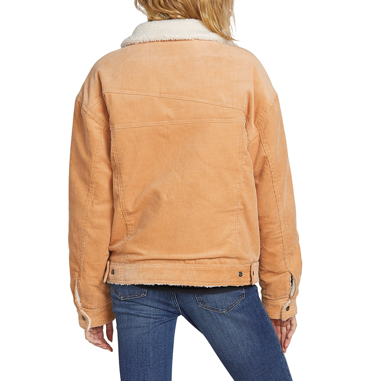 Volcom Womens Woodstone Cord Oversized Reversable Jacket