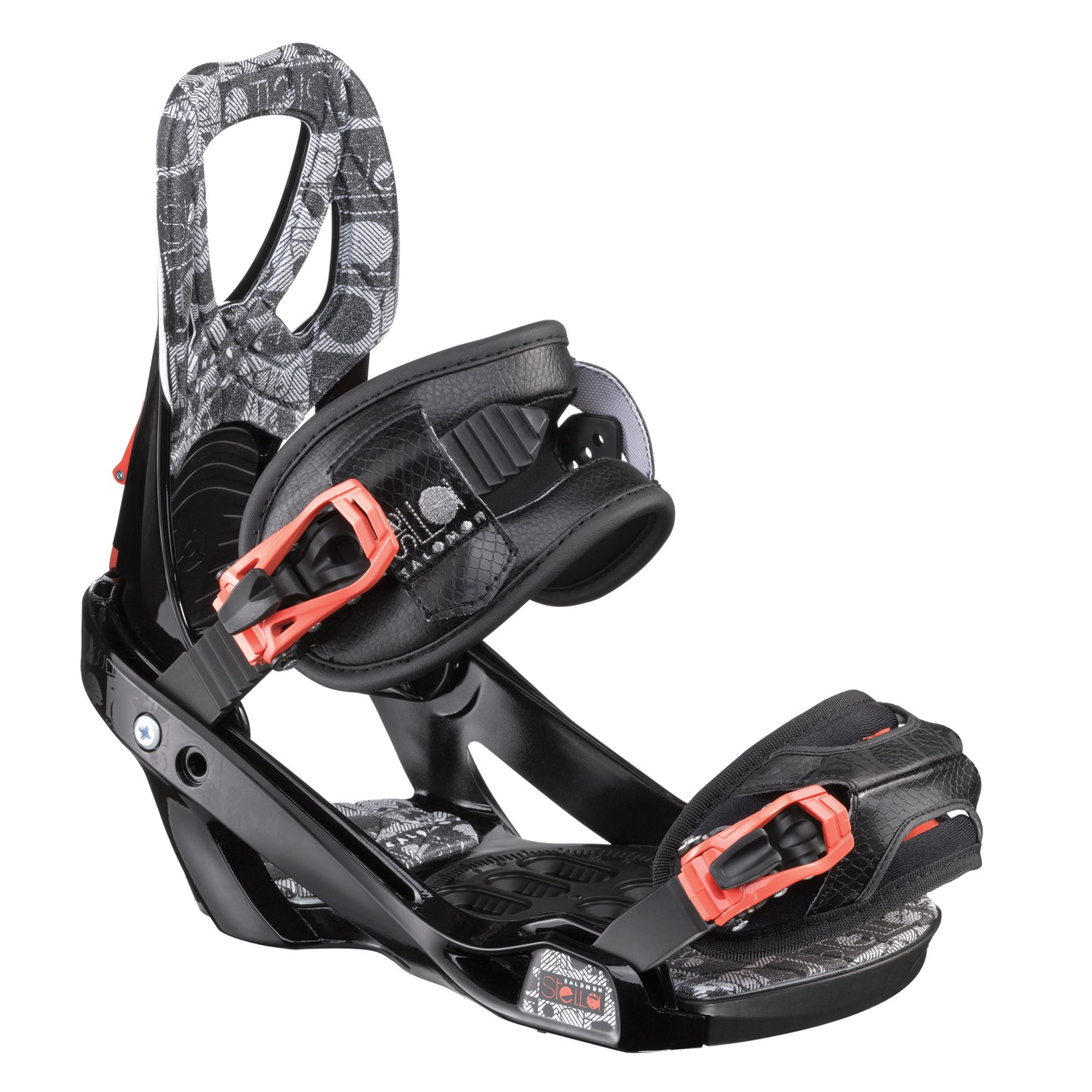 System LUX Womens Rear Entry Flow Style Snowboard Bindings M//L