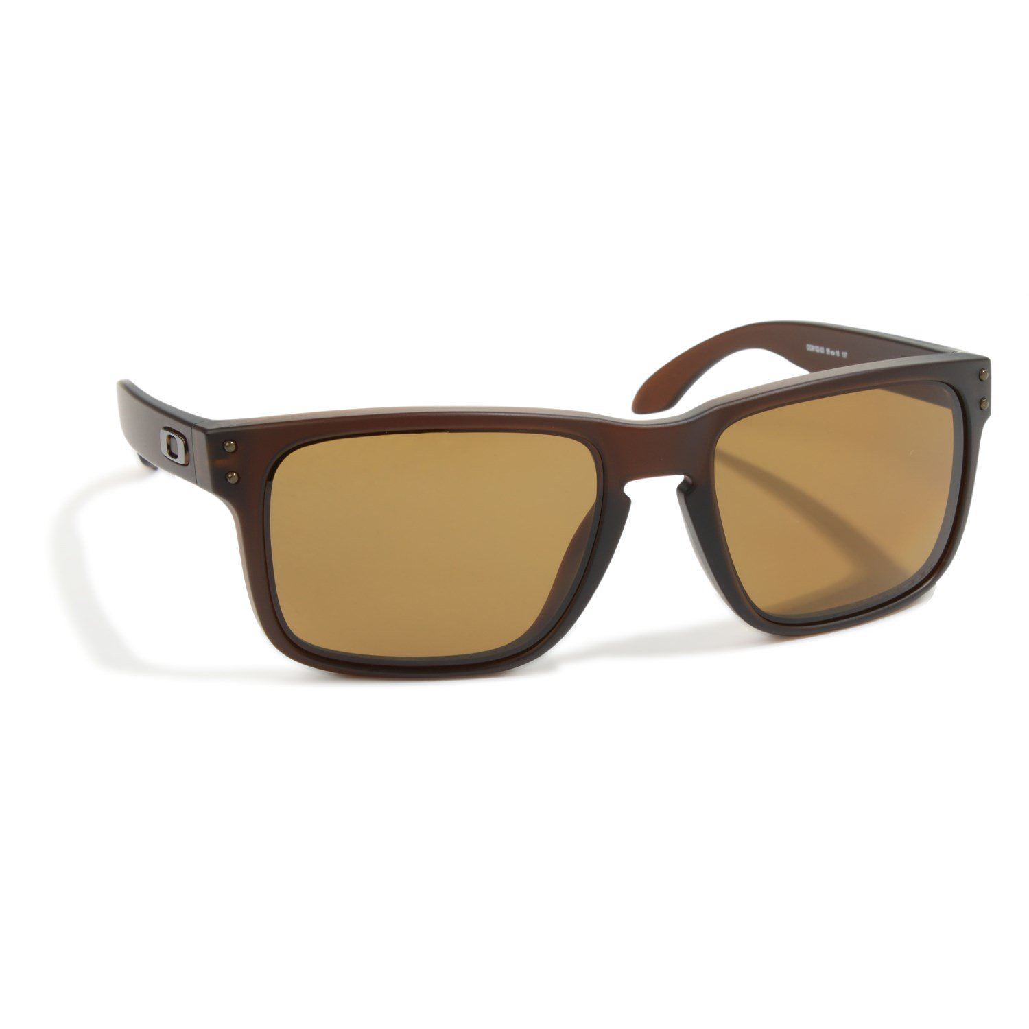 oakley holbrook sunglasses review  oakley holbrook sunglasses matte rootbeer bronze polarized front