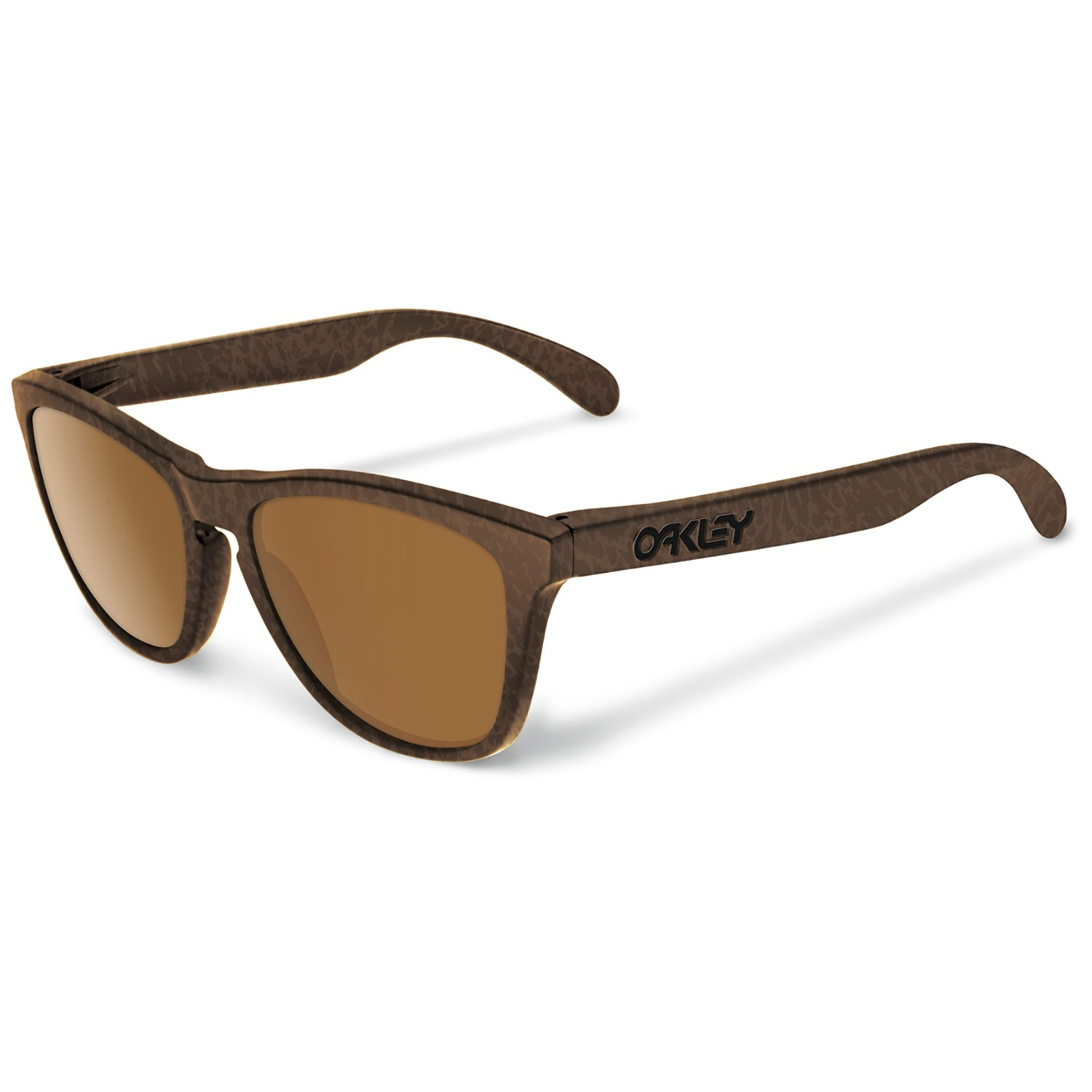 oakley sunglasses cheap review  oakley frogskins sunglasses tobacco dark bronze front