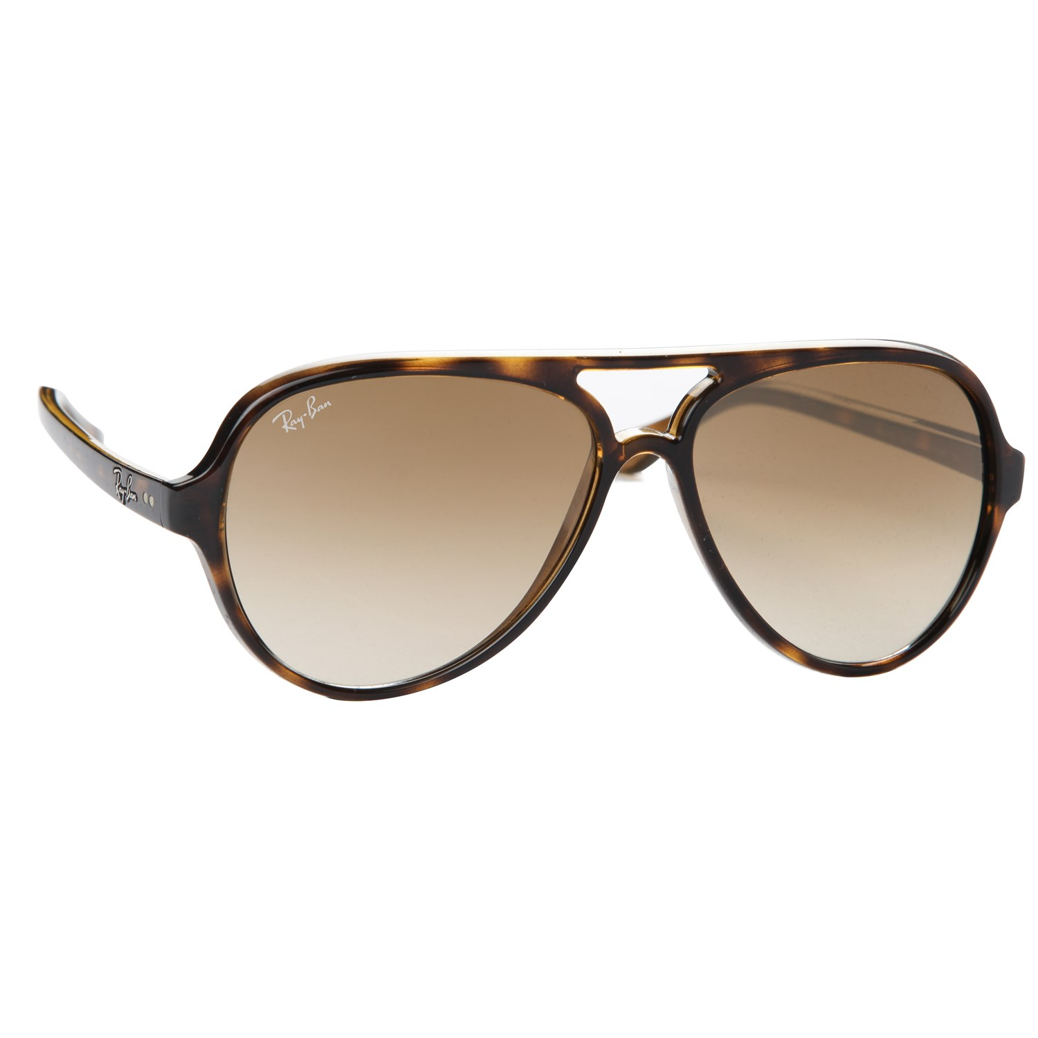 ray ban sunglasses aviator tortoise  ray ban rb 4125 cats 5000 sunglasses light havana brown gradient high back