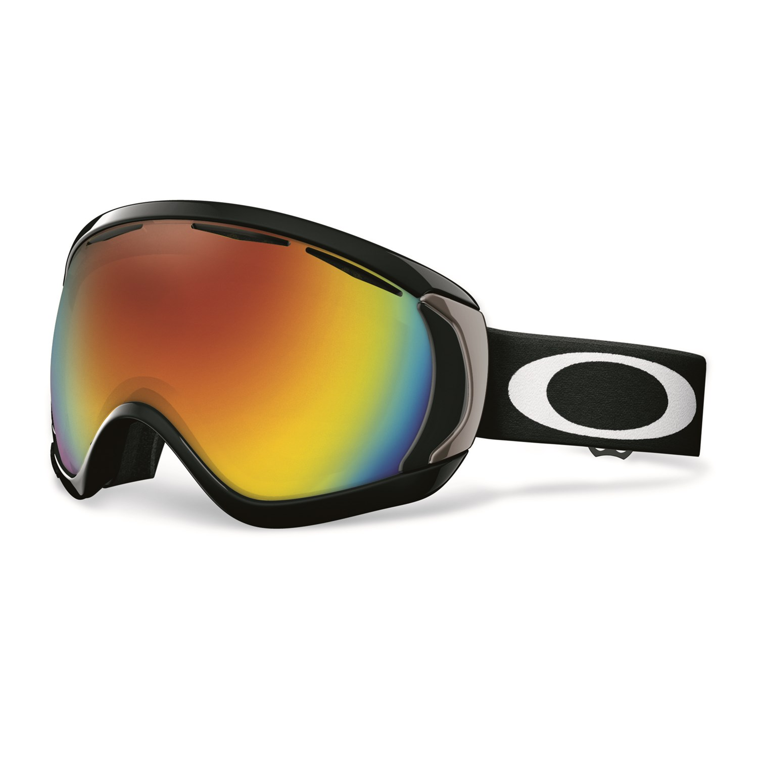 how to change glass in oakley goggles  oakley canopy goggles matte black fire iridium front