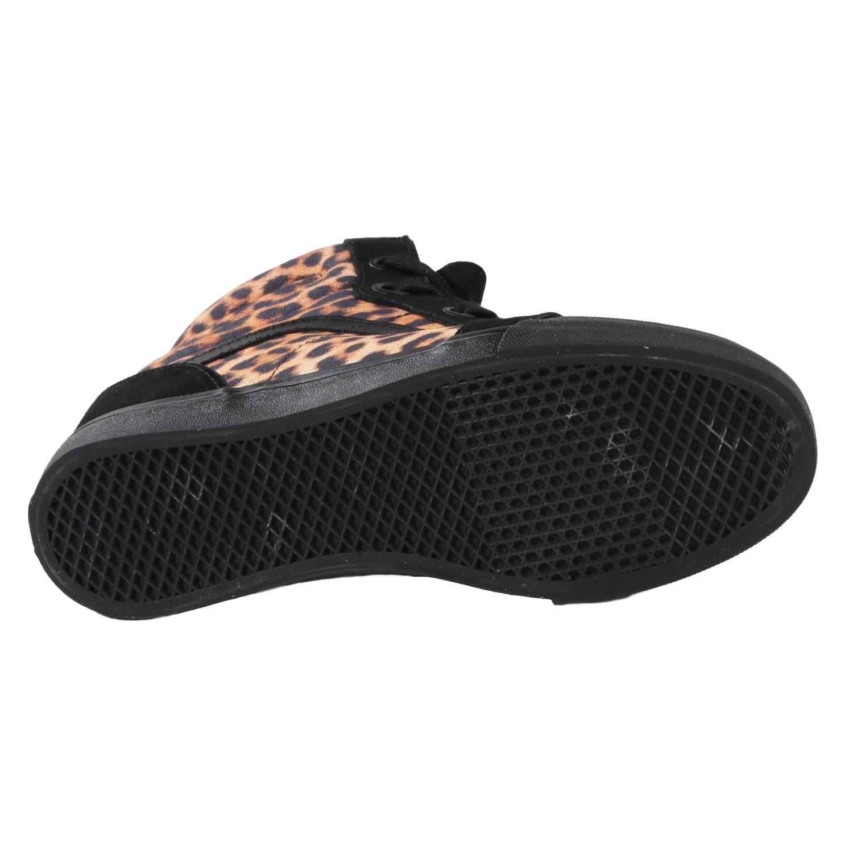 leopard vans black bottom