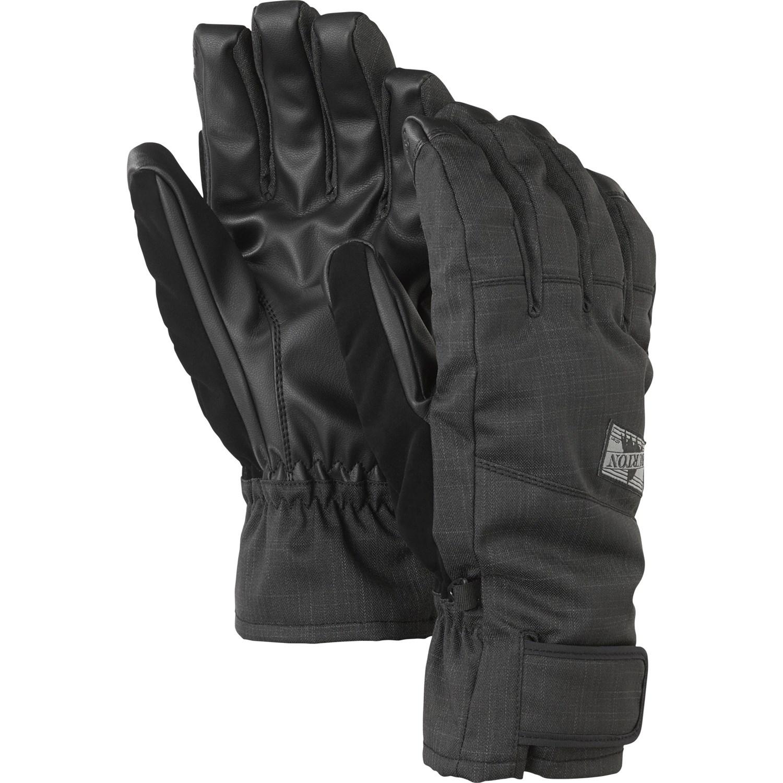 Black leather gloves on sale - Burton Approach Under Cuff Gloves