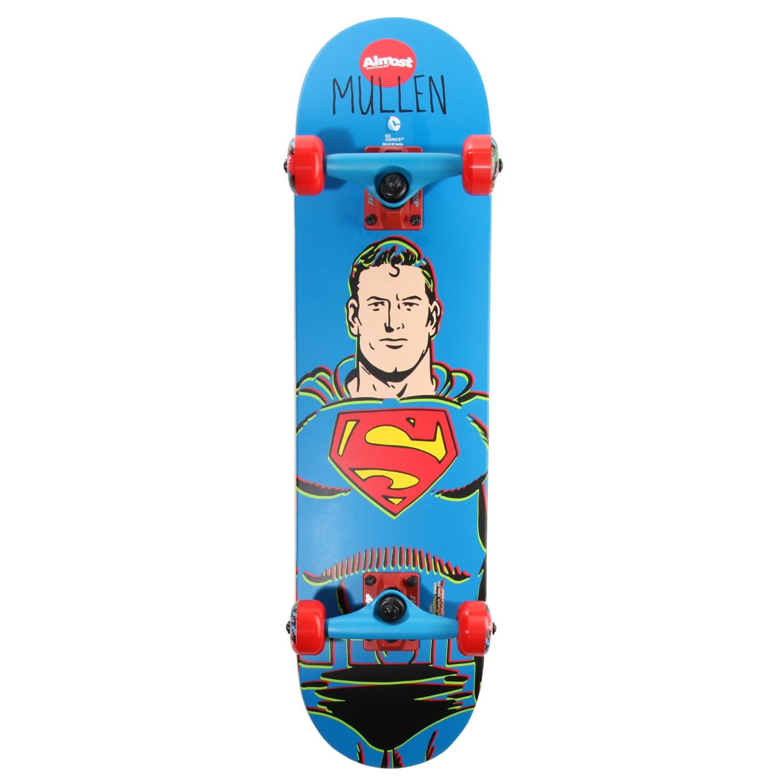 "ALMOST SKATEBOARDS Skate 5/"" Sticker SUPERMAN Comic skateboard helmets decal"