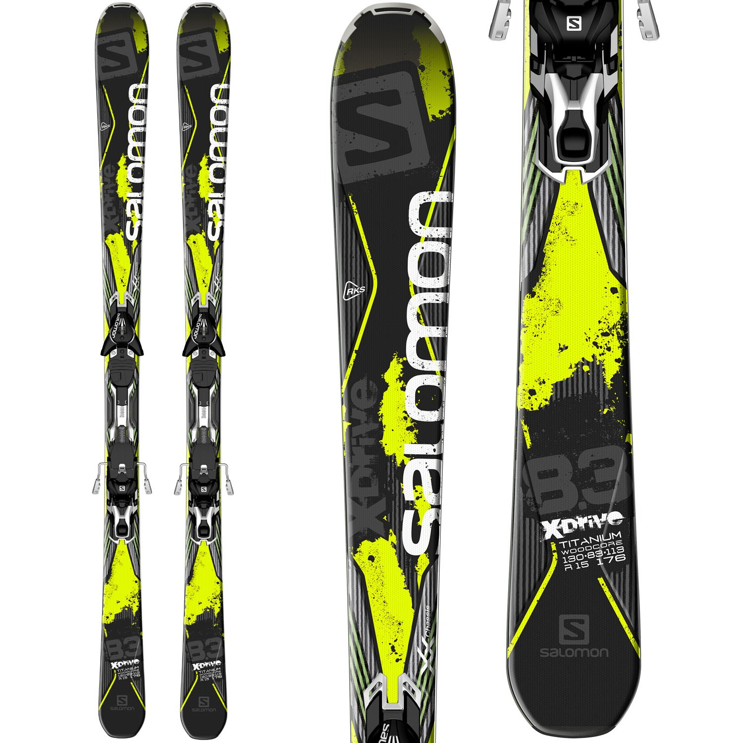 official store attractive price latest discount Salomon X-Drive 8.3 Skis + XT12 Bindings 2015
