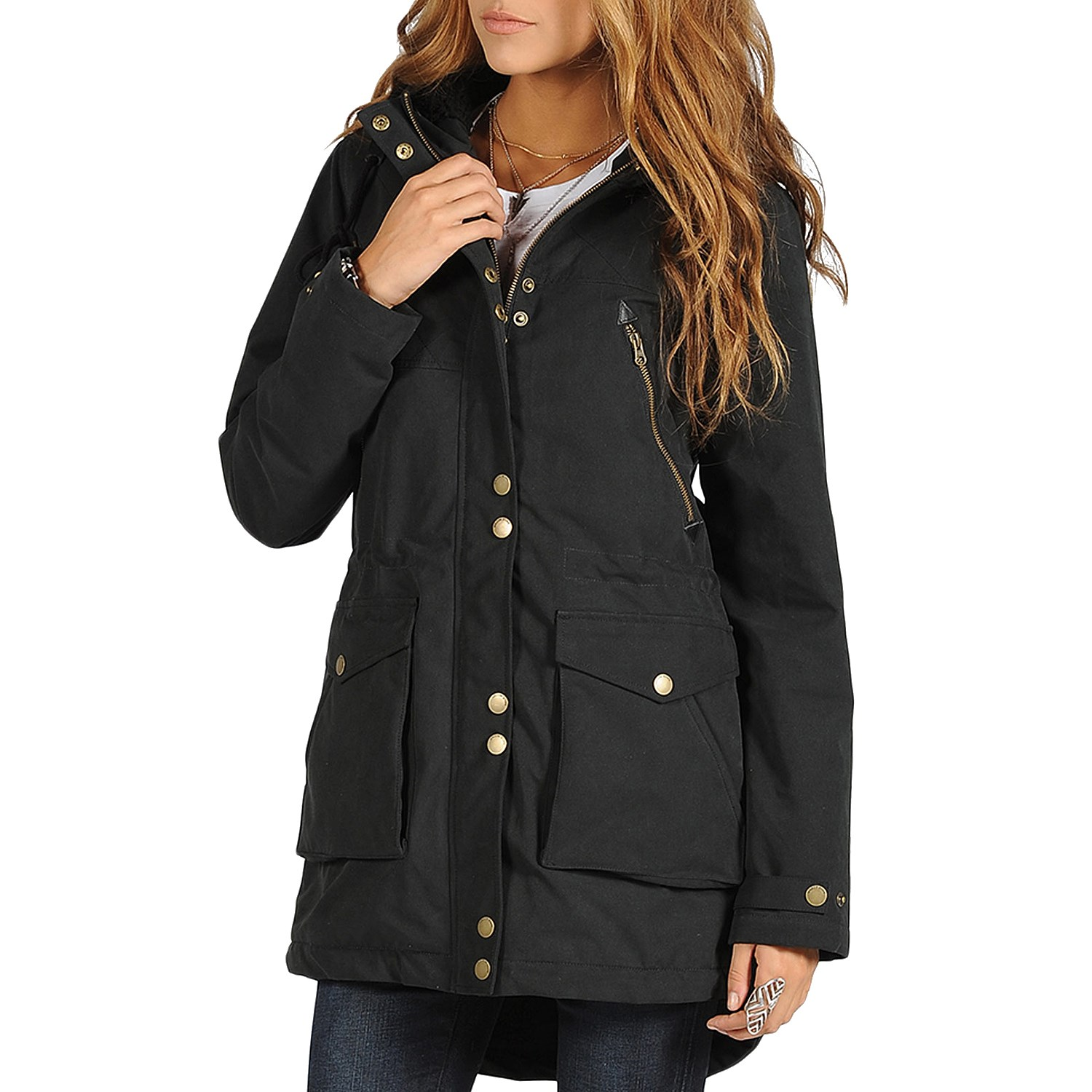 Womens Black Parka Jacket - JacketIn