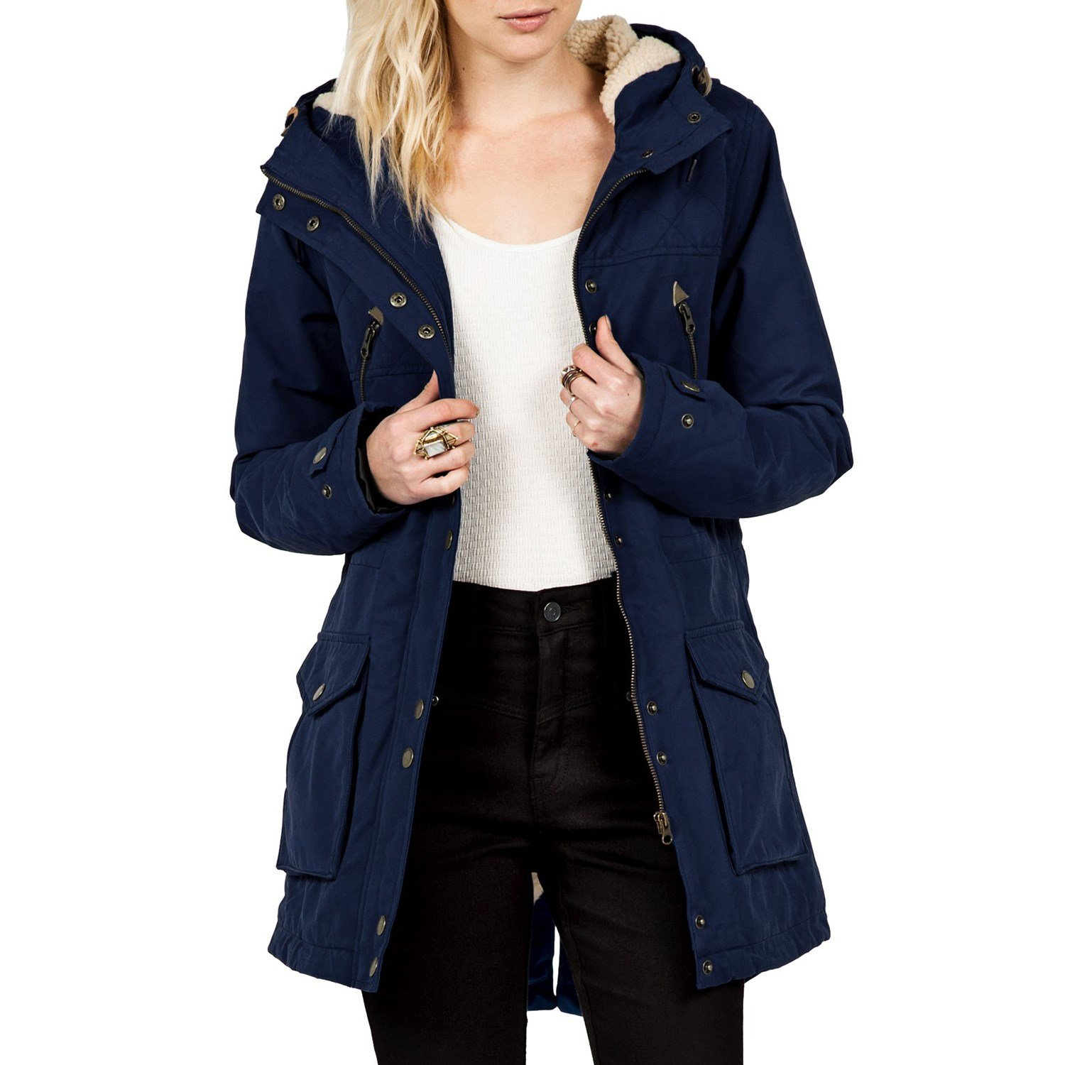 Navy Blue Parka Coat Womens - Coat Racks