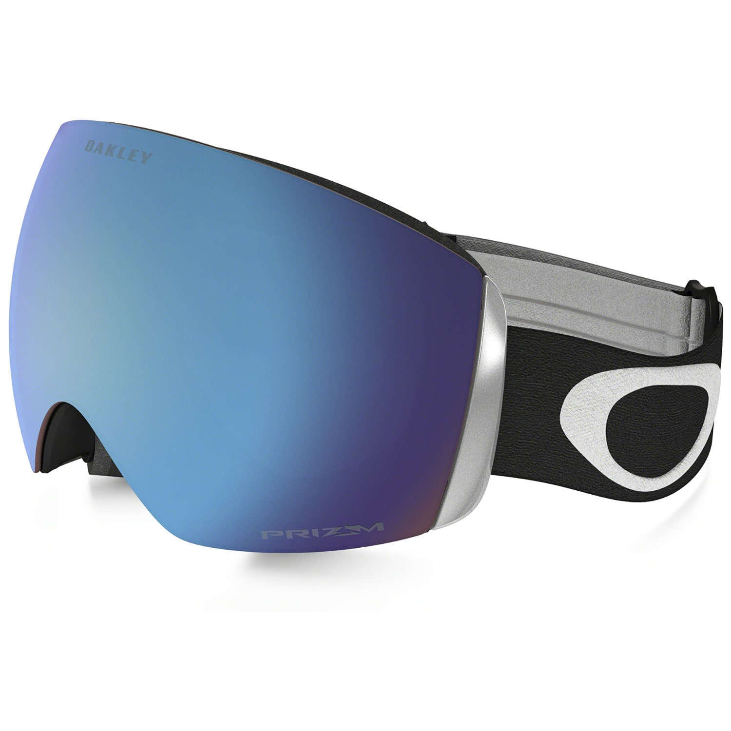 oakley flight deck glass  oakley flight deck asian fit goggles matte black prizm sapphire iridium front