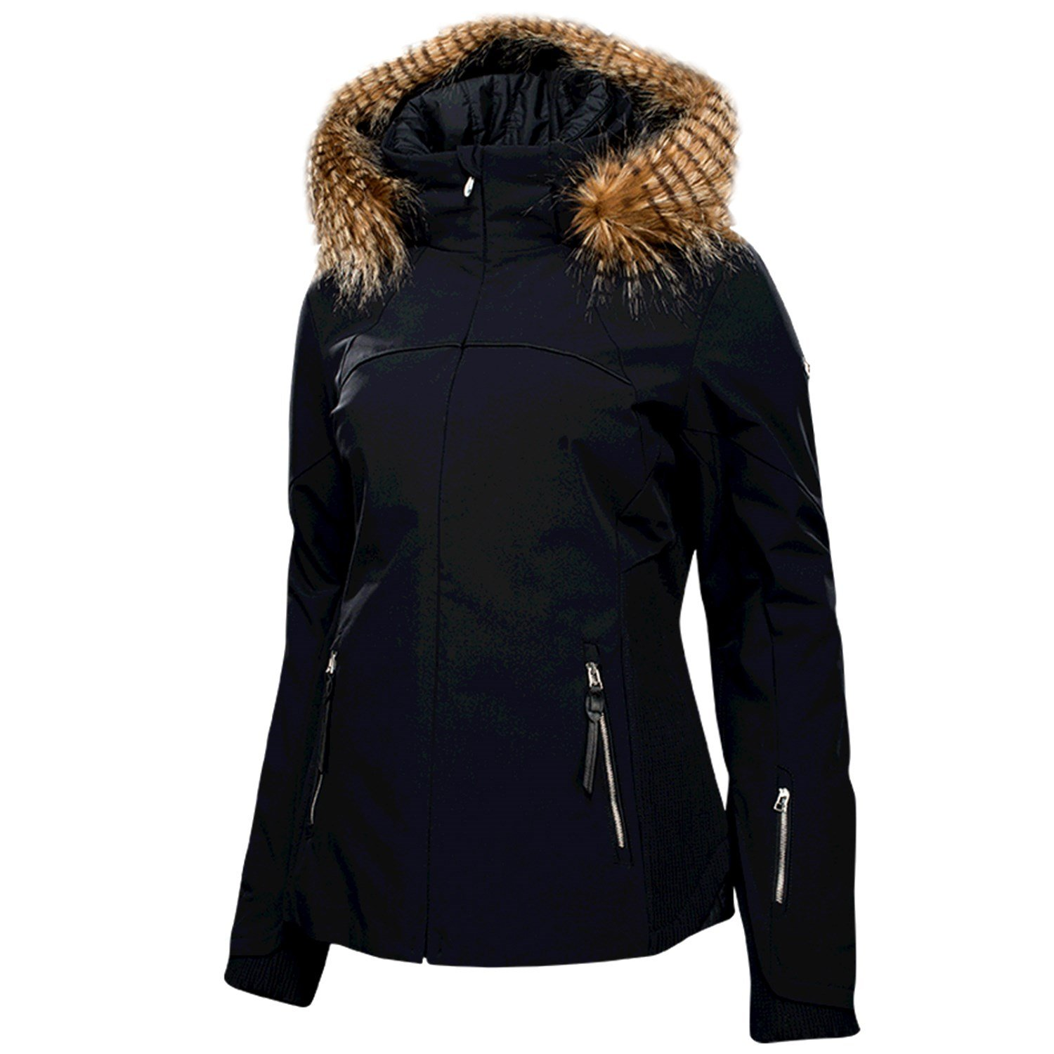 Womens spyder jacket with fur