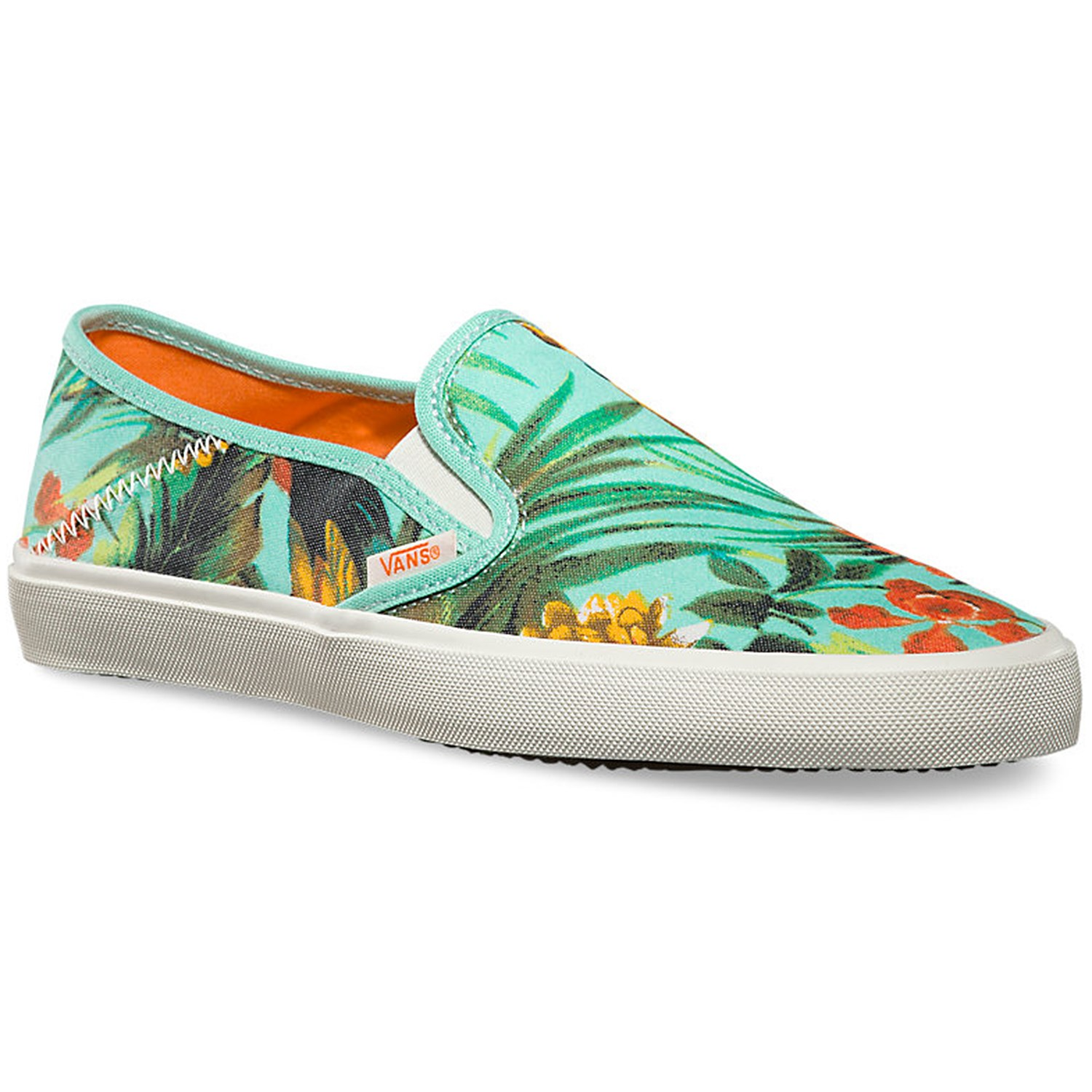 vans slip on beach shoes