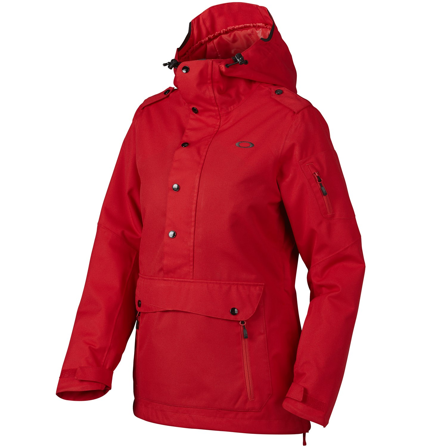 oakley ski jackets on sale  oakley alfa biozone pullover jacket women s red line front