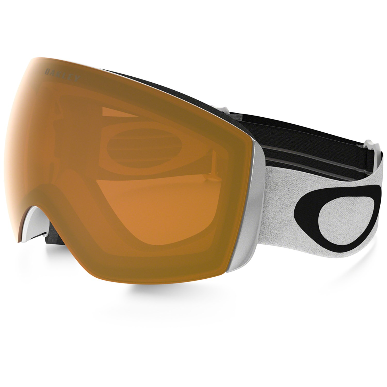 oakley flight deck glass  oakley flight deck xm goggles matte white persimmon side