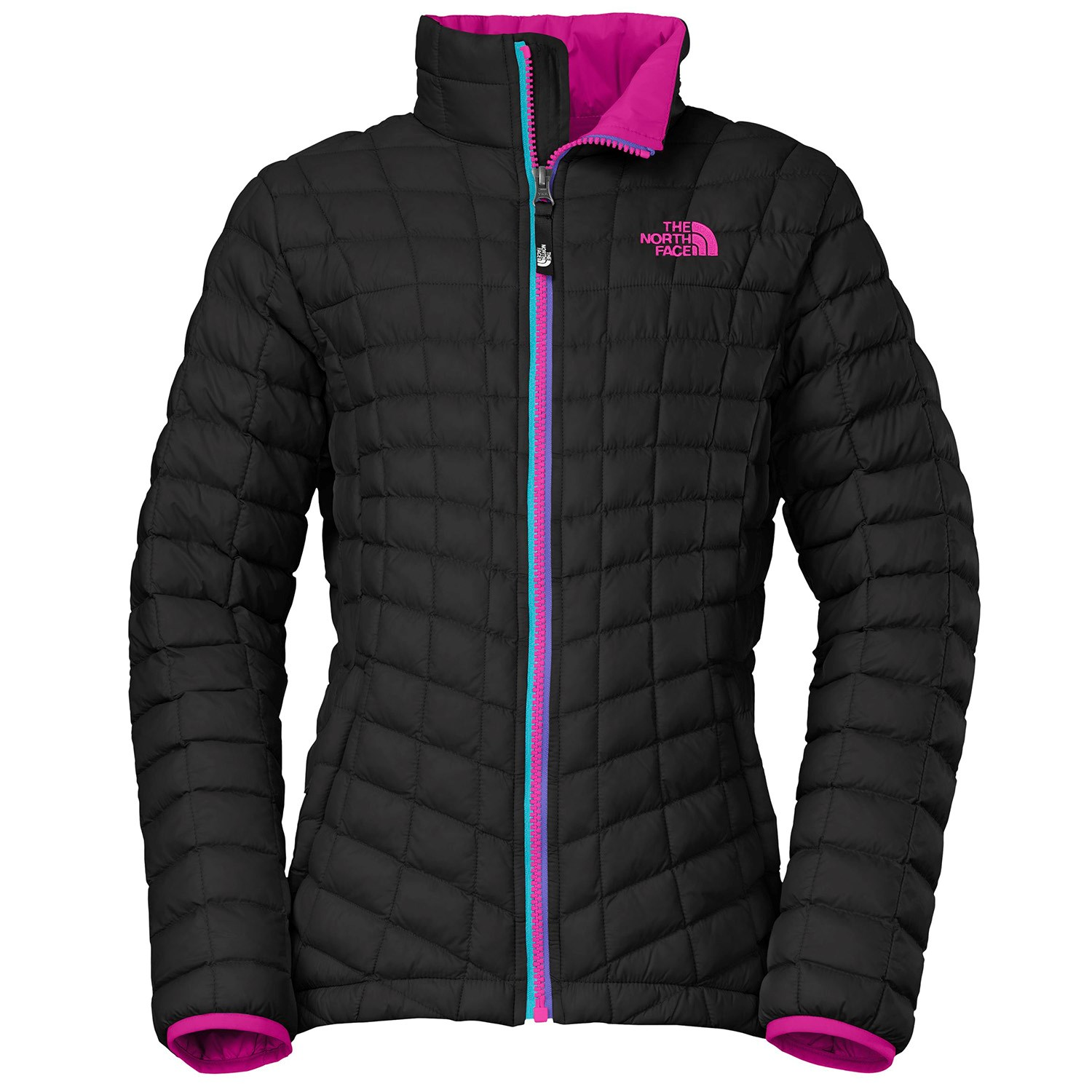 C PINK L XL THE NORTH FACE GIRLS YOUTH THERMOBALL FULL ZIP JACKET