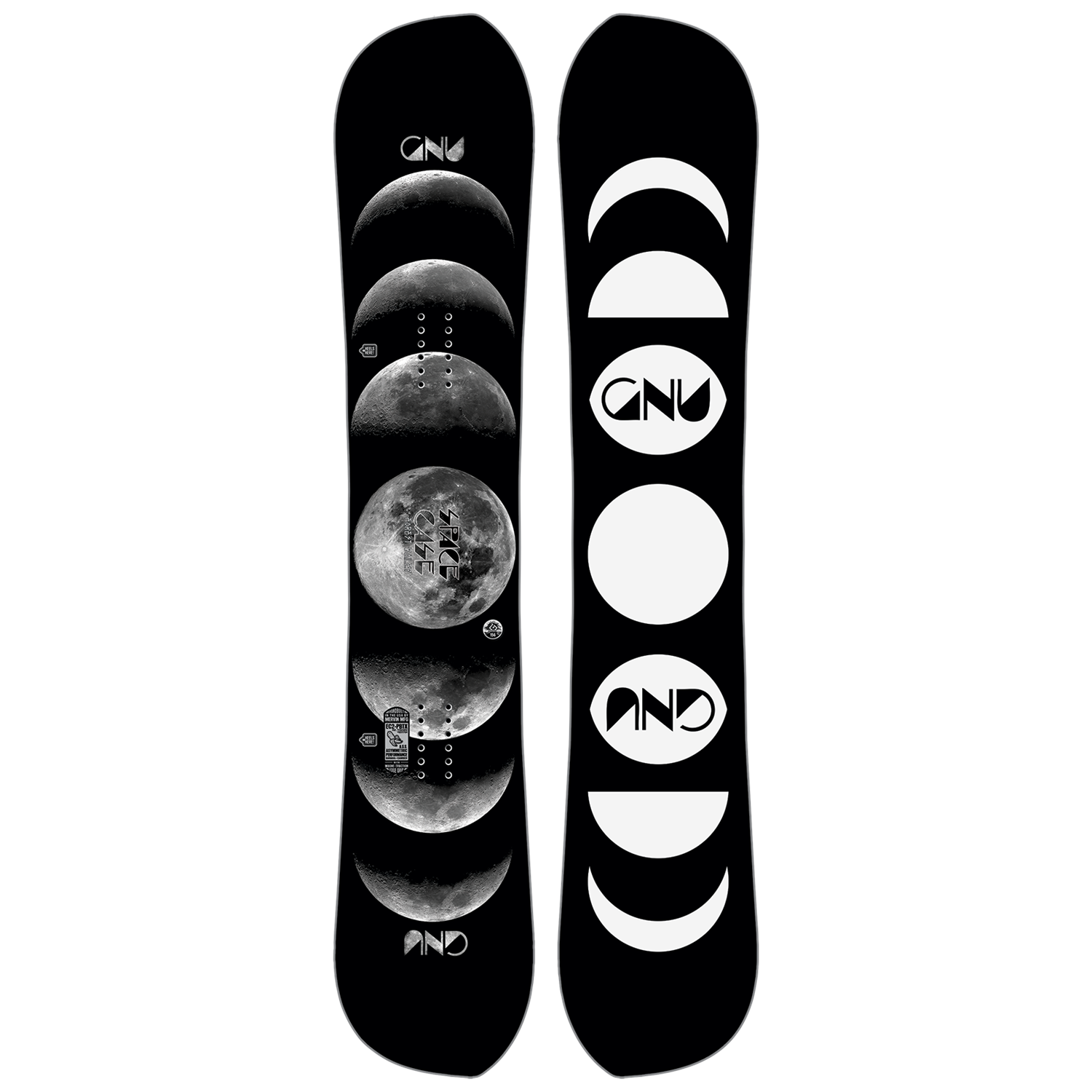 Lunar Moon Phases Snowboard Sticker All Weather 6 Vinyl Decal